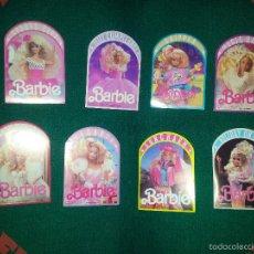 Barbie y Ken: 8 PEGATINAS DE BARBIES DIFERENTES - 1990 - MATTEL ESPAÑA,S.A COMO NUEVAS. Lote 56854608