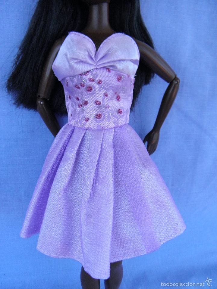 Vestido Lila De Fiesta Para Muñecas Barbie