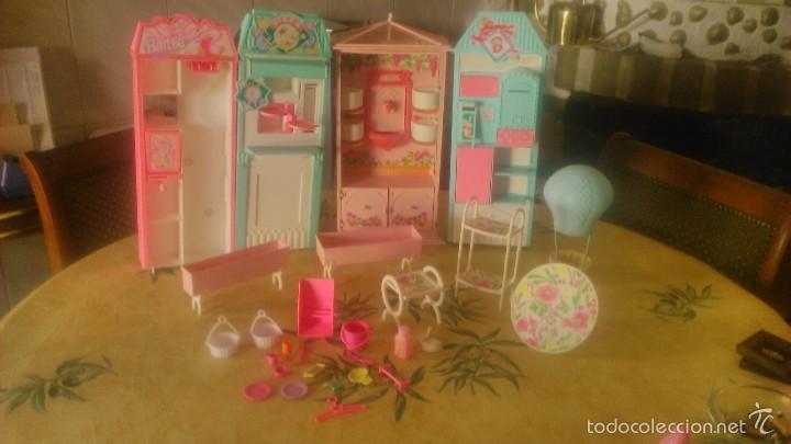 BARBIE LOTE DE PIZZERIA,JARDINERÍA,HELADERA Y ACCESORIOS DE BARBIE,AÑOS 90 (Juguetes - Muñeca Extranjera Moderna - Barbie y Ken - Vestidos y Accesorios)