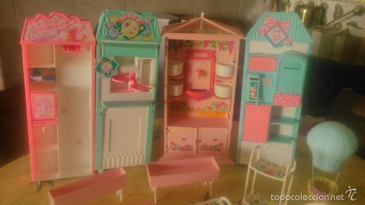 Barbie y Ken: BARBIE LOTE DE PIZZERIA,JARDINERÍA,HELADERA Y ACCESORIOS DE BARBIE,AÑOS 90 - Foto 2 - 152258708