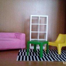 Barbie y Ken: MUEBLES IKEA ESCALA BARBIE. Lote 75775643