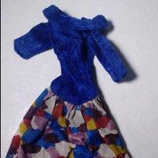 Barbie y Ken: BARBIE VESTIDO ORIGINAL AZUL ESTAMPADO DE CONGOST. Lote 79669321