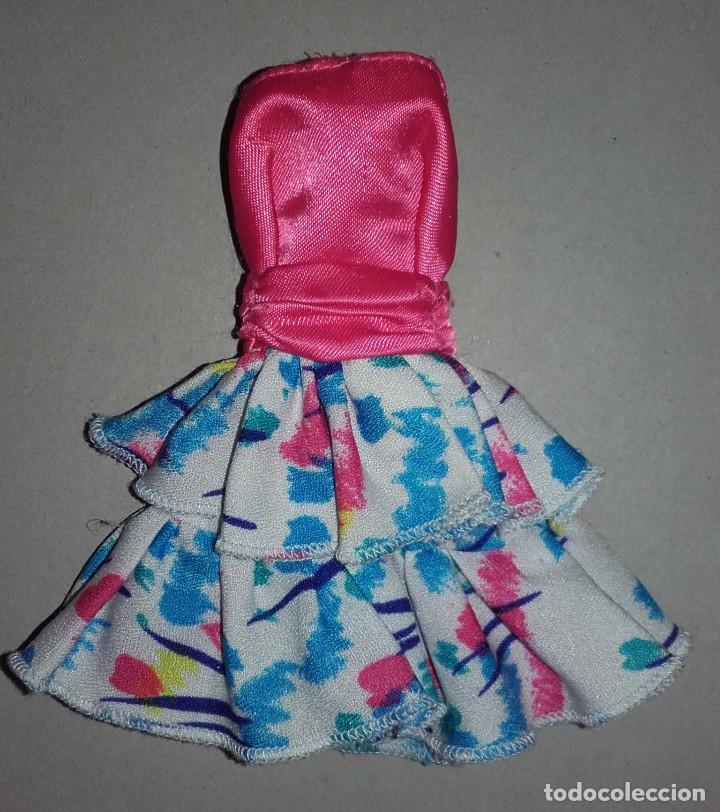 VESTIDO DISEÑO ORIGINAL MUÑECA BARBIE DE MATTEL CONGOST SPAIN (Juguetes - Muñeca Extranjera Moderna - Barbie y Ken - Vestidos y Accesorios)