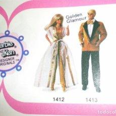 Barbie y Ken: DIFICIL TUNICA DEL GOLDEN GLAMOUR DE BARBIE DEL AÑO 79. Lote 93896350