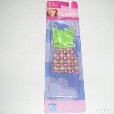 Barbie y Ken: CONJUNTO FALDA Y CAMISETA TIRANTES BARBIE EN BLISTER . Lote 95759099