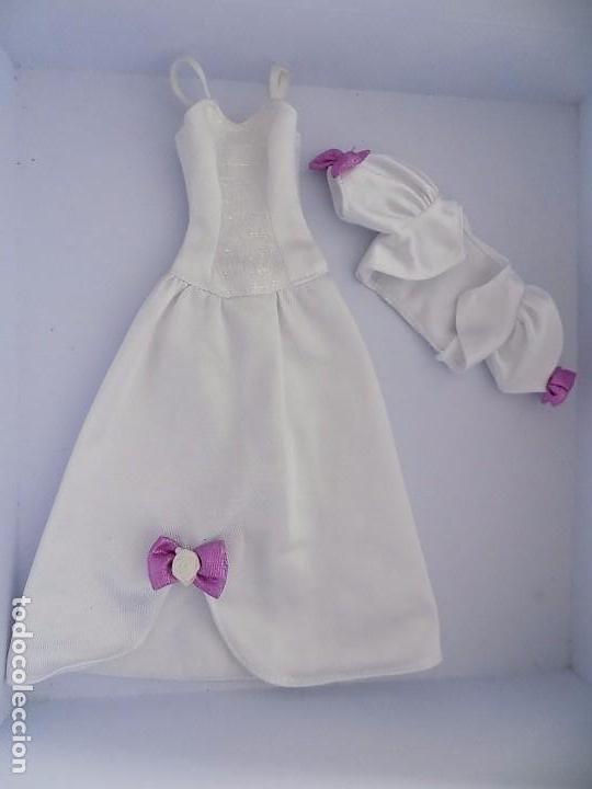 VESTIDO BARBIE VINTAGE ETIQUETA MORADA (Juguetes - Muñeca Extranjera Moderna - Barbie y Ken - Vestidos y Accesorios)