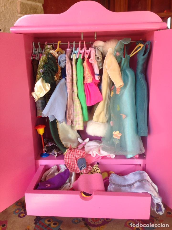 Armario Organizador Plastico ~ armario barbie con mucha ropa y complementos Comprar Barbie y Ken Vestidos y Accesorios en