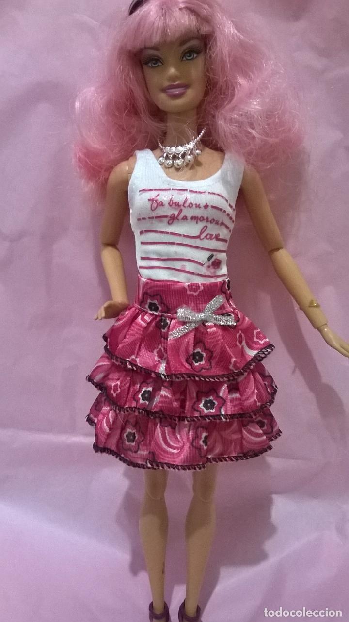 Precioso Vestido De Dos Piezas Para Barbies Se Regala Zapatos A Juego