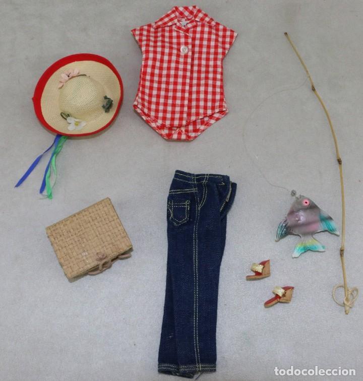 BARBIE #0967 1958 SET PICNIC SET OUTFIT ALL ORIGINAL COMPLETE (Juguetes - Muñeca Extranjera Moderna - Barbie y Ken - Vestidos y Accesorios)