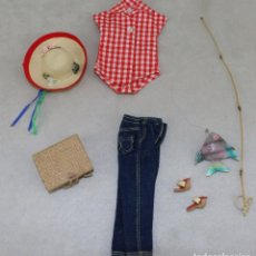 Barbie y Ken: BARBIE #0967 1958 SET PICNIC SET OUTFIT ALL ORIGINAL COMPLETE. Lote 102970095