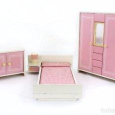 Barbie y Ken: DORMITORIO PARA MUÑECAS MANIQUÍ TAMAÑO BARBIE, POSIBLEMENTE FRADE. Lote 103800935
