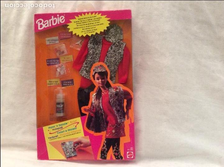 BLISTER VESTIDO BARBIE...CON PINTURAS MAGICAS (Juguetes - Muñeca Extranjera Moderna - Barbie y Ken - Vestidos y Accesorios)