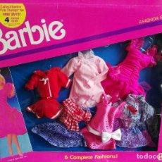 Barbie y Ken: BARBIE SET 6 VESTIDOS DE 1990, MATTEL. Lote 111897783