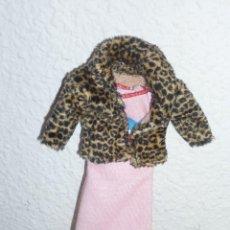Barbie y Ken: BONITO MODELO DE VESTIDO ROSA SIN MANGAS Y CHAQUETA IMITANDO PIEL DE LEOPARDO-NUEVO. Lote 112463659