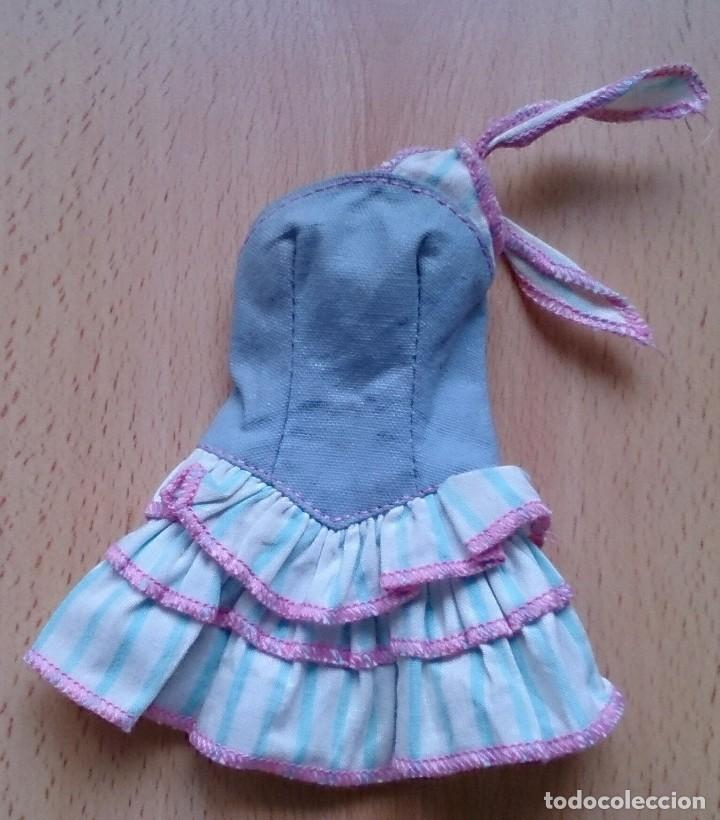 VESTIDO MODA JEANS OKLAHOMA ORIGINAL BARBIE AÑOS 80 (Juguetes - Muñeca Extranjera Moderna - Barbie y Ken - Vestidos y Accesorios)