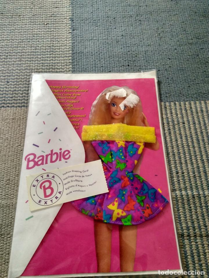 VESTIDO BARBIE FASHION GREETING CARD AÑO 1994 (Juguetes - Muñeca Extranjera Moderna - Barbie y Ken - Vestidos y Accesorios)