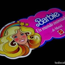 Barbie y Ken: ADHESIVO MUÑECA BARBIE. UN MUNDO INIMITABLE...DE MATTEL. SIN PEGAR, ORIGINAL 1984. SPANISH ISSUE.. Lote 206495180
