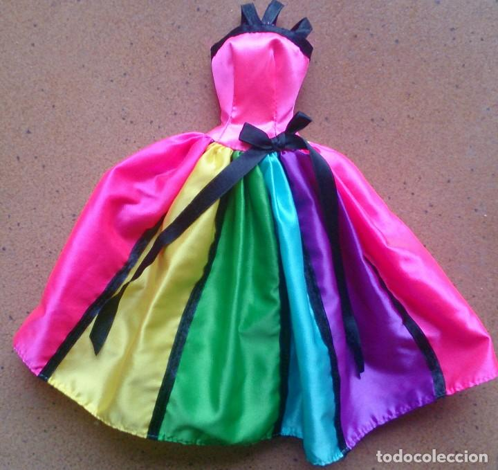 VESTIDO ALTA COSTURA HAUTE COUTURE AÑOS 90 ORIGINAL MUÑECA BARBIE (Juguetes - Muñeca Extranjera Moderna - Barbie y Ken - Vestidos y Accesorios)