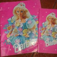 Barbie y Ken: LOTE DE DOS CUADERNO BLOCK PARA ESCRIBIR MUÑECA BARBIE AÑO 1996 DE MATTEL. Lote 125181083