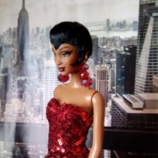 Barbie y Ken: FOR SALE BARBIE CATS.RED GLAMOR.SUPPORT INCLUDED.BARBIE COLLECTOR. Lote 128524644