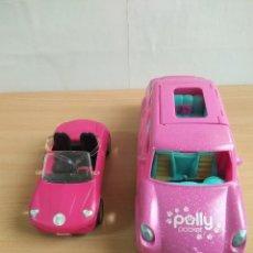 Barbie y Ken: LOTE DE 2 COCHES PARA BARBIE Y POLLY POCKET. Lote 128981235