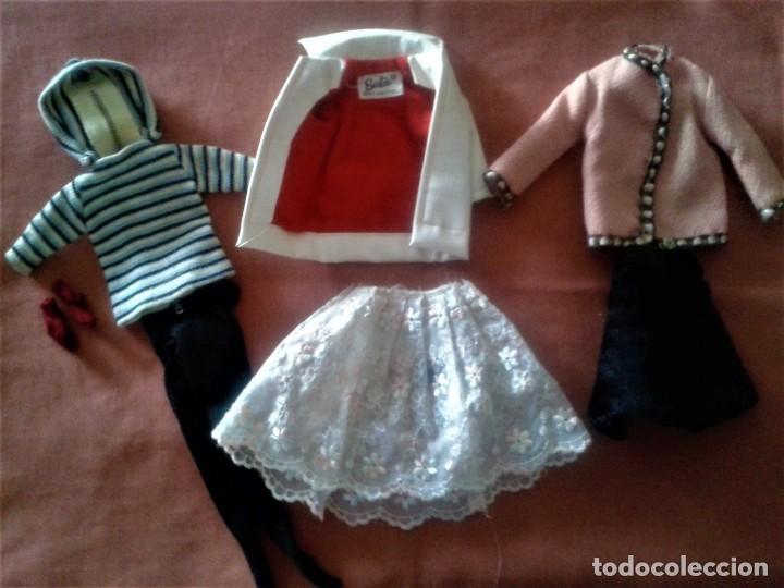 LOTE DE ROPAS DE BARBIE VINTAGE AÑOS 60 (Juguetes - Muñeca Extranjera Moderna - Barbie y Ken - Vestidos y Accesorios)