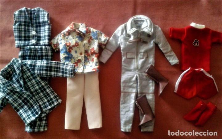 LOTE DE ROPAS DE KEN VINTAGE AÑOS 60 (Juguetes - Muñeca Extranjera Moderna - Barbie y Ken - Vestidos y Accesorios)