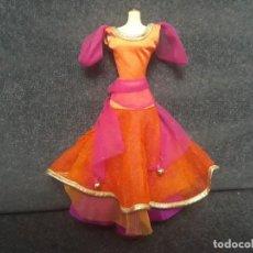 Barbie y Ken: VESTIDO DISNEY ESMERALDA. Lote 137353006