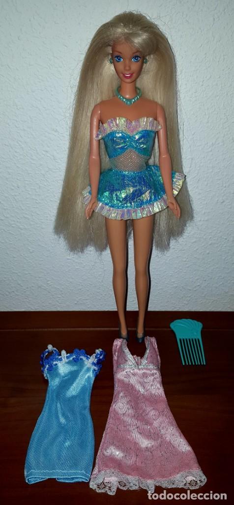 BARBIE AÑOS 90 CHAMPÚ MAGICO MATTEL (Juguetes - Muñeca Extranjera Moderna - Barbie y Ken - Vestidos y Accesorios)