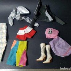Barbie y Ken: BARBIE LOTE DE ROPA VESTIDOS ORIGINALES BOTAS . Lote 138353338