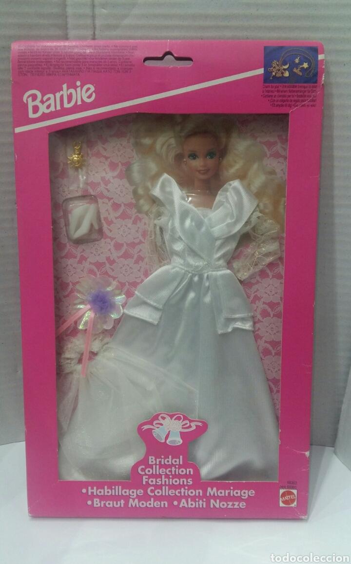 BARBIE VESTIDO COLECCIÓN SUEÑOS DE NOVIA. NUEVO. MATTEL. REF 68363. 1994. INCLUYE UN COLGANTE.BRIDAL (Juguetes - Muñeca Extranjera Moderna - Barbie y Ken - Vestidos y Accesorios)
