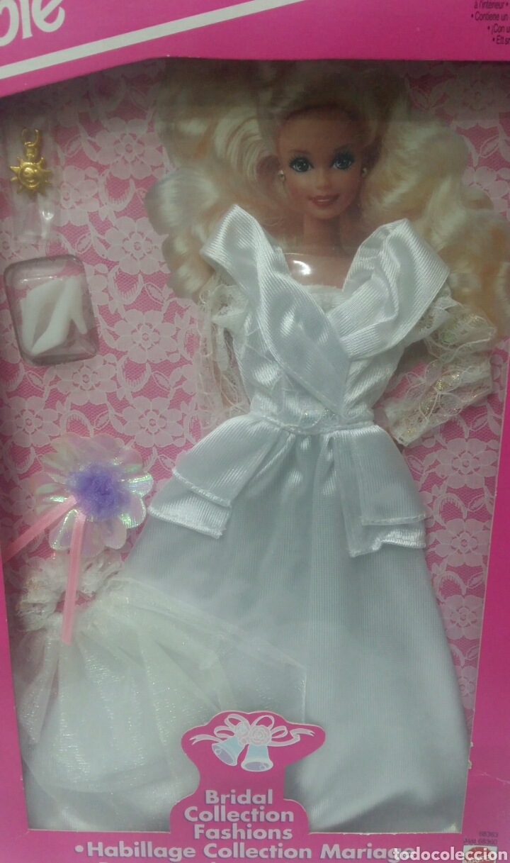 Barbie y Ken: BARBIE VESTIDO COLECCIÓN SUEÑOS DE NOVIA. NUEVO. MATTEL. REF 68363. 1994. INCLUYE UN COLGANTE.BRIDAL - Foto 2 - 141572034