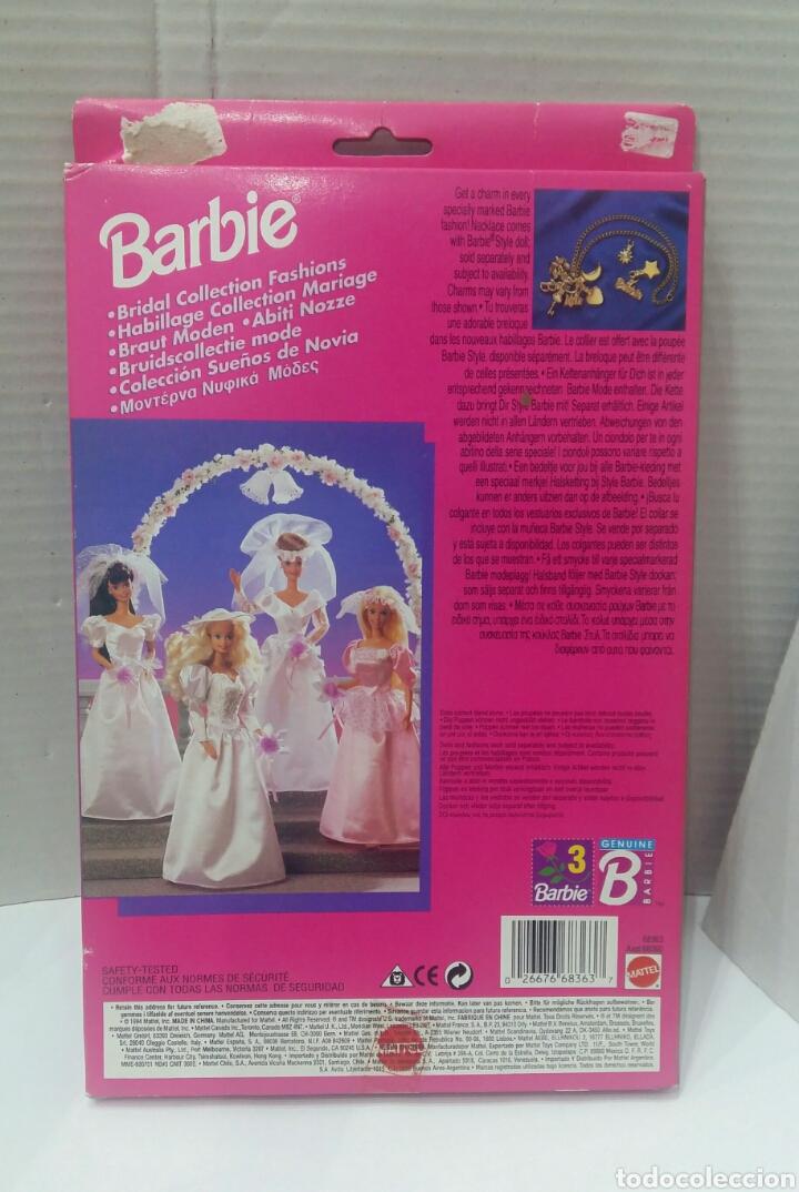 Barbie y Ken: BARBIE VESTIDO COLECCIÓN SUEÑOS DE NOVIA. NUEVO. MATTEL. REF 68363. 1994. INCLUYE UN COLGANTE.BRIDAL - Foto 3 - 141572034