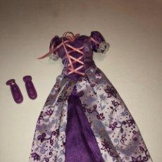 Barbie y Ken: ACCESORIOS BARBIE RAPUNZEL RAPUNZZEL VESTIDO Y ZAPATOS MATTEL. Lote 153709809