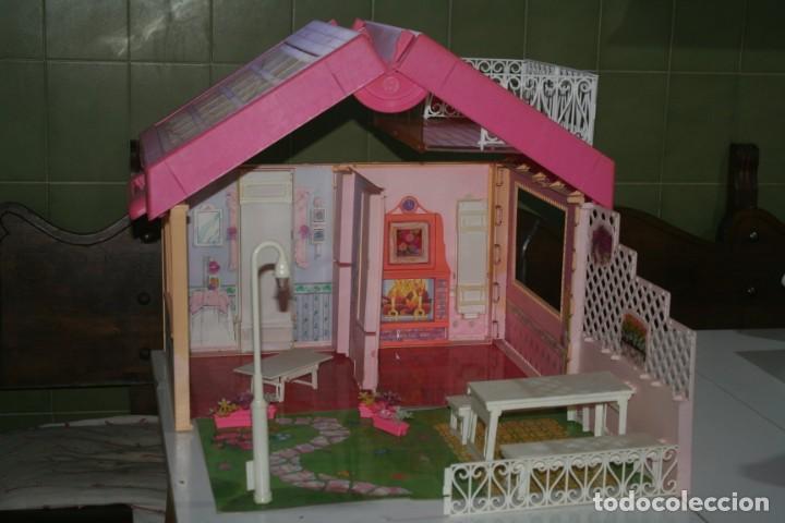 CASA CASITA MUÑECA BARBIE ANTIGUA 1992 FOLD´N FUN HOUSE (Juguetes - Muñeca Extranjera Moderna - Barbie y Ken - Vestidos y Accesorios)