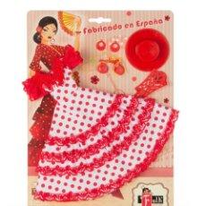 Barbie y Ken: BLISTER VESTIDO Y COMPLEMENTOS PARA MUÑECA BARBIE CON VESTIDO ANDALUZA.. Lote 167041456