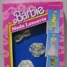 Barbie y Ken: BARBIE, MODA LENCERÍA, CONJUNTO 3 PIEZAS, 1988 MATTEL ESPAÑA, MADE IN SPAIN. Lote 168962652
