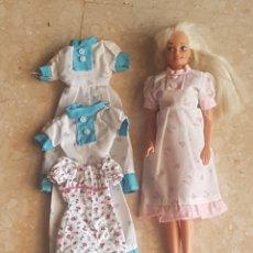 Barbie y Ken: MUÑECA Y LOTE VESTIDOS BARBIE 1 FASHION AVENUE Y TRES SIN ETIQUETA.. Lote 171152065