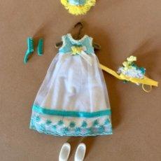 Barbie y Ken: VESTIDO ORIGINAL PARA TUTTI HERMANA PEQUENA DE BARBIE DAMA HONOR CHICA DE FLORES 1965 MATTEL. Lote 171711678