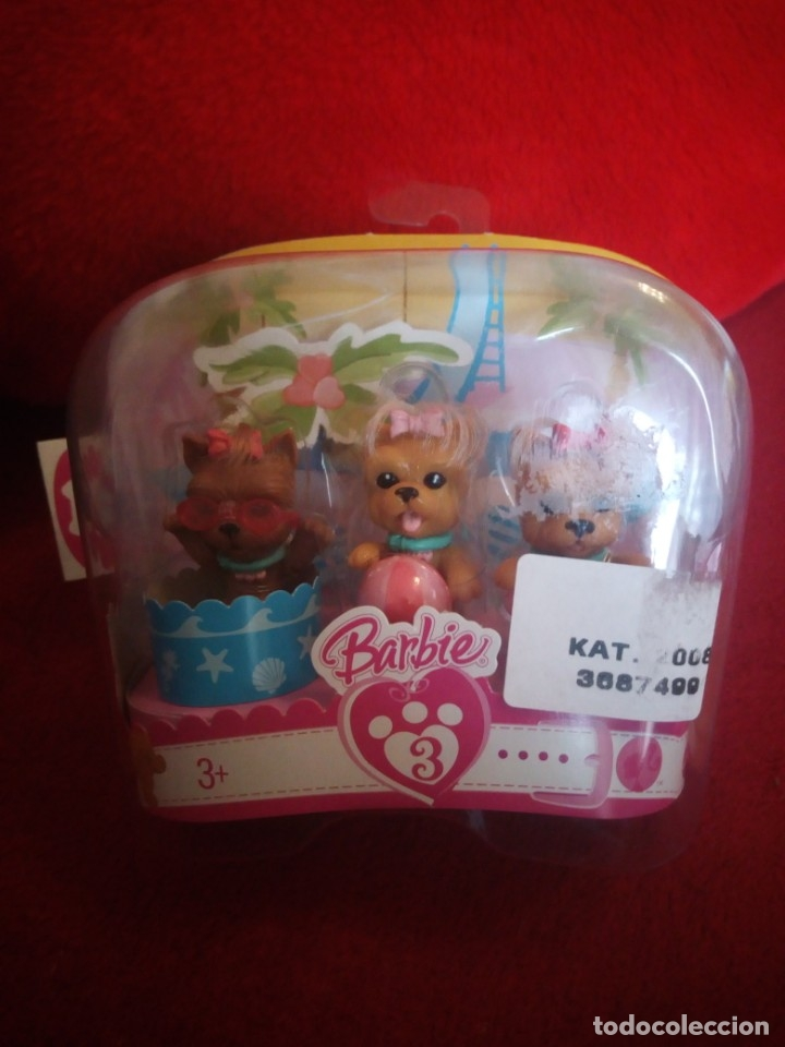 BARBIE BLISTER CON 3 CACHORROS . MATTEL 2007 (Juguetes - Muñeca Extranjera Moderna - Barbie y Ken - Vestidos y Accesorios)