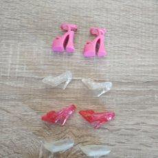Barbie y Ken: LOTE 5 PARES ZAPATOS BARBIE ZAPATO . Lote 173957333