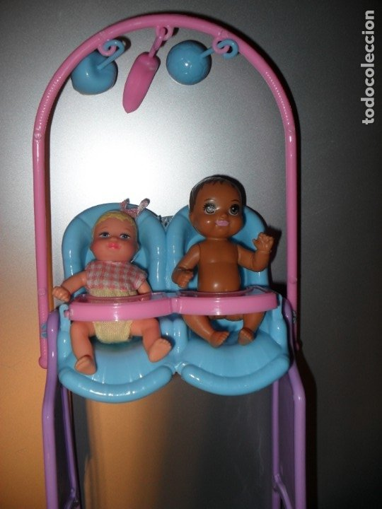 Accesorios Para Bebes Gemelos.Silla Comedero Para Bebes Gemelos No Incluye Munecos Casa De Munecas O Barbie Monster High Liv