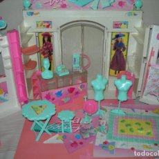 Barbie y Ken: GRAN BOUTIQUE / HELADERÍA DE LA MUÑECA BARBIE CON MUCHAS PIEZAS Y ACCESORIOS - MATTEL AÑOS 90 -. Lote 177746372