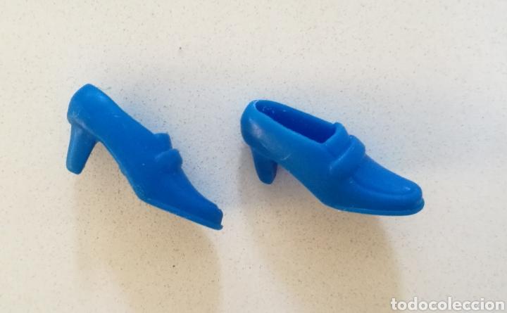 lo último 5720f bebca Barbie zapatos tacón azules años 90