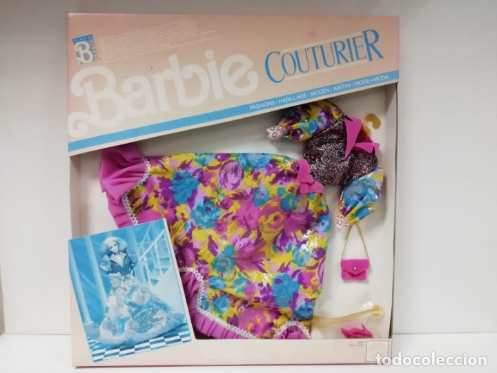 VESTIDO BARBIE COUTURIER-MATTEL AÑO 1990 (Juguetes - Muñeca Extranjera Moderna - Barbie y Ken - Vestidos y Accesorios)
