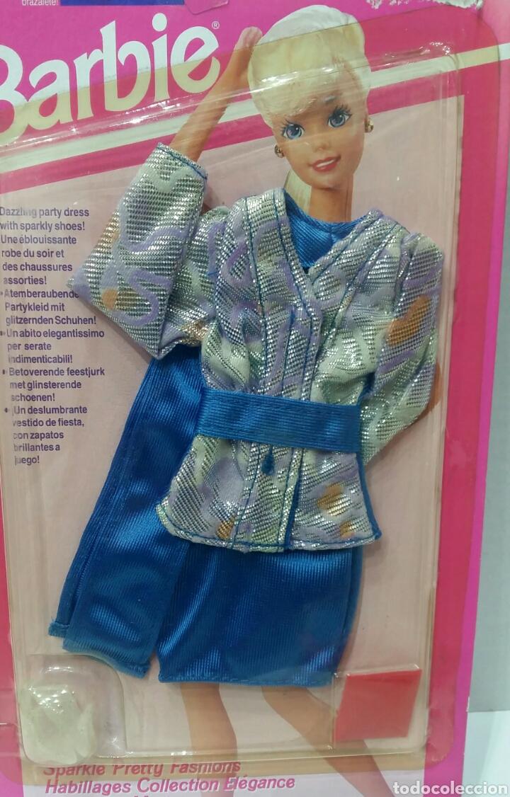 Barbie y Ken: BARBIE COLECCIÓN COCKTAIL. NUEVO EN BLISTER. INCLUYE UN COLGANTE. MATTEL. REF 68162. 1993. VESTIDO. - Foto 2 - 184296671
