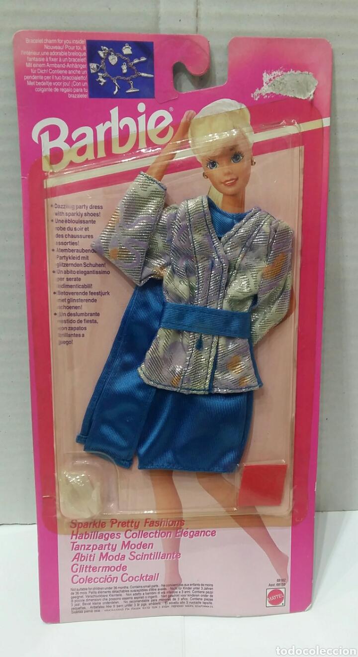 BARBIE COLECCIÓN COCKTAIL. NUEVO EN BLISTER. INCLUYE UN COLGANTE. MATTEL. REF 68162. 1993. VESTIDO. (Juguetes - Muñeca Extranjera Moderna - Barbie y Ken - Vestidos y Accesorios)