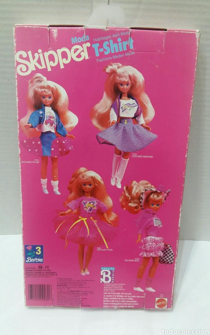 Barbie y Ken: SKIPPER T - SHIRT. VESTUARIO FIESTA. NUEVO EN CAJA. MATTEL. REF 9080. 1989. CONJUNTO. VESTIDO.BARBIE - Foto 3 - 186049487