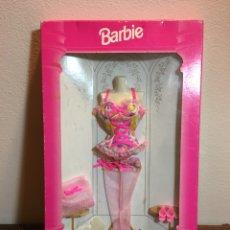 Barbie y Ken: CAJA VESTIDO LENCERÍA BARBIE FASHION AVENUE. Lote 186247403