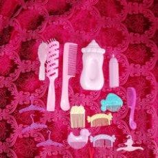 Barbie y Ken: ACCESORIOS TOCADOR MATTEL 1988 BARBIE 16 PIEZAS. Lote 190426036